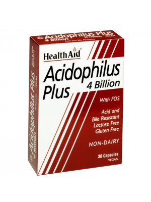 HEALTH AID ACIDOPHILUS PLUS 4 BILLION - BLISTER 30VEGCAPS
