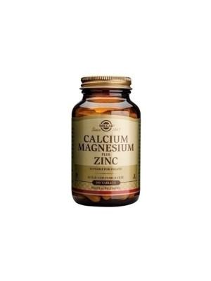 SOLGAR CALCIUM MAGNESIUM PLUS ZINC 100TAB