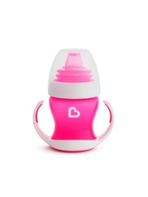 Munchkin Gentle First Cup Pink Εκπαιδευτικό Κύπελλο με Λαβές Ροζ 4m+ 118ml