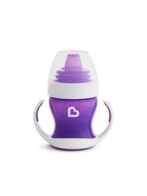 Munchkin Gentle First Cup Purple Εκπαιδευτικό Κύπελλο με Λαβές Μωβ 4m+ 118ml