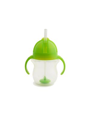 Munchkin Click Lock Green Κύπελο Με Καλαμάκι Πράσινο 207ml