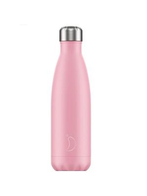 Chilly's Pastel Edition Pink Μπουκάλι Θερμός Απαλό Ροζ 500ml