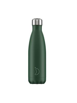Chilly's Matte Edition Green Μπουκάλι Θερμός Πράσινο 500ml