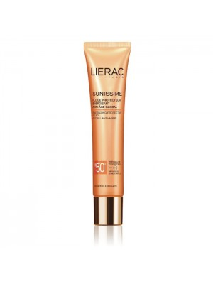 LIERAC SUNISSIME ENERGIZING PROTECTIVE FLUIDE GLOBAL ANTI-AGING SPF50+ 40ML