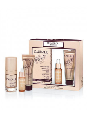 CAUDALIE PREMIER CRU EYE SET : THE EYE CREAM 15ML & PRECIOUS OIL 10ML & THE CREAM 15ML