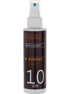 KORRES SUNTAN OIL SPF10 150ML
