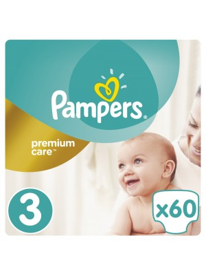 PAMPERS PREMIUM CARE ΠΑΝΕΣ No3 6-10KG JUMBO PACK 60ΤΕΜΑΧΙΑ