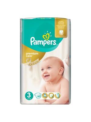 PAMPERS PREMIUM CARE ΠΑΝΕΣ No3 6-10KG JUMBO PACK 60ΤΕΜΑΧΙΑ