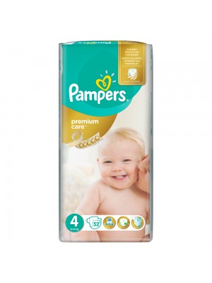 PAMPERS PREMIUM CARE ΠΑΝΕΣ No4 9-14KG JUMBO PACK 52ΤΕΜΑΧΙΑ
