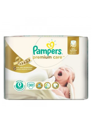 PAMPERS PREMIUM CARE ΠΑΝΕΣ No0 1-2.5KG 30ΤΕΜΑΧΙΑ