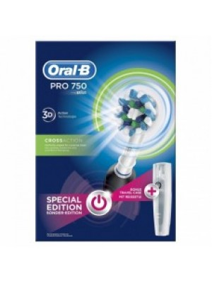 ORAL B PROFESSIONAL CARE 750 3D CROSS ACTION BLACK SPECIAL EDITION ΗΛΕΚΤΡΙΚΗ ΟΔΟΝΤΟΒΟΥΡΤΣΑ