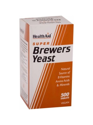 HEALTH AID SUPER BREWERS YEAST TABLETS 500'S