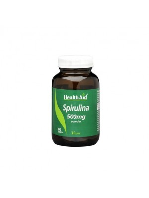 HEALTH AID SPIRULINA 500MG TABLETS 60'S