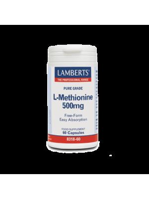 LAMBERTS L-METHIONINE 500MG 60CAPS