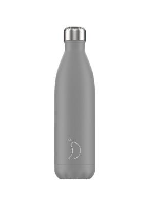 Chilly's Monochrome Grey Μπουκάλι Θερμός 750ml