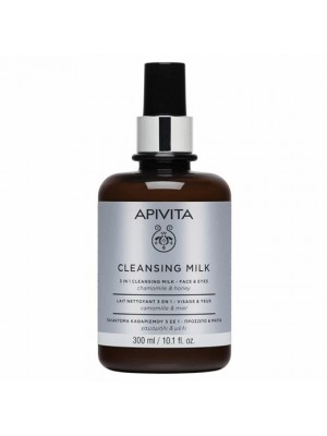 APIVITA CLEANSING MILK 3 IN 1 WITH CHAMOMILE & HONEY 300ML