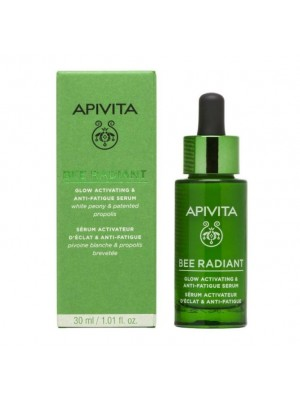APIVITA BEE RADIANT WHITE PEONY & PATENTED PROPOLIS GLOW ACTIVATING & ANTI-FATIGUE SERUM 30ML