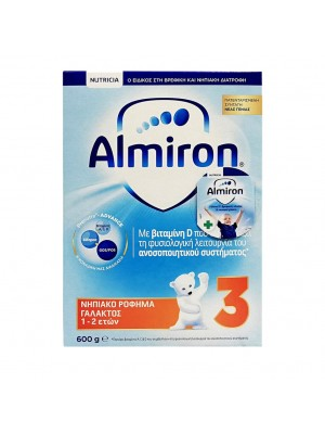 NUTRICIA ALMIRON 3 ΝΗΠΙΑΚΟ ΡΟΦΗΜΑ ΓΑΛΑΚΤΟΣ 1-2 ΕΤΩΝ 600GR
