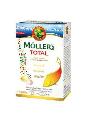 MOLLER'S TOTAL ΩΜΕΓΑ 3-ΒΙΤΑΜΙΝΕΣ-ΜΕΤΑΛΛΑ 28CAPS+28TABS