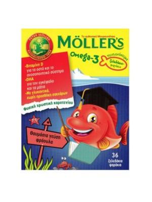 MOLLER'S OMEGA-3 ΖΕΛΕΔΑΚΙΑ-ΨΑΡΑΚΙΑ ΜΕ ΓΕΥΣΗ ΦΡΑΟΥΛΑ 36CAPS