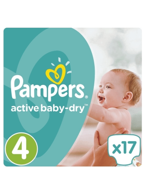 PAMPERS ACTIVE BABY DRY ΠΑΝΕΣ No4 8-14KG 17ΤΕΜΑΧΙΑ