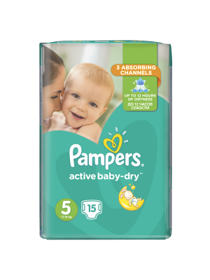 PAMPERS ACTIVE BABY DRY ΠΑΝΕΣ No 11-18KG 15ΤΕΜΑΧΙΑ
