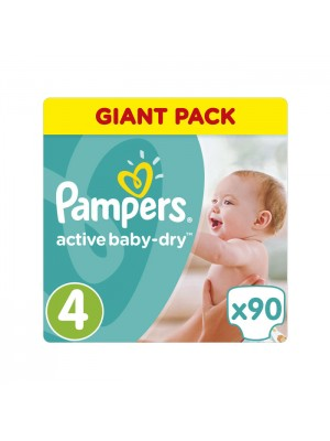 PAMPERS ACTIVE BABY DRY ΠΑΝΕΣ No4 8-14KG GIANT PACK 90ΤΕΜΑΧΙΑ