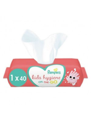 Pampers Kids Hygiene On-the-go Μαντηλάκια Καθαρισμού 40 τεμάχια