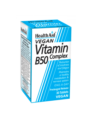 HEALTH AID B50 COMPLEX PROLONGED RELEASE TABLETS 30'S