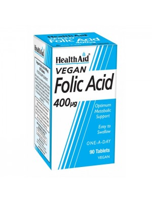 HEALTH AID FOLIC ACID 400MG TABLETS 90'S