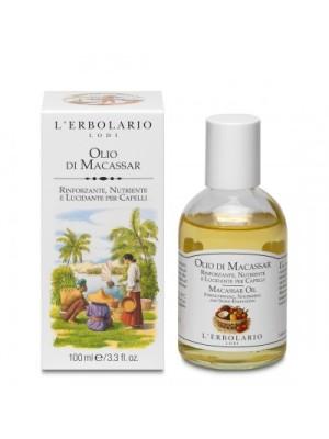 L' Erbolario Macassar Oil Λάδι Για Όγκο Και Λάμψη Σε Στεγνά Και Κατεστραμμένα Μαλλιά 100ml