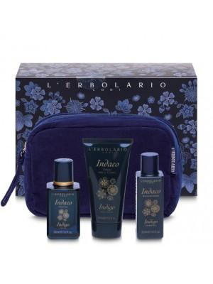 L' Erbolario Indigo Σετ Ταξιδιού Με Mini Size Άρωμα Αφρόλουτρο και Κρέμα Σώματος