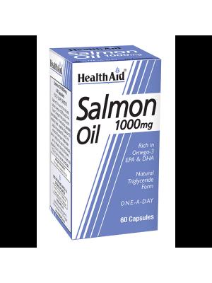 HEALTH AID SALMON OIL FRESHWATER 1000MG CAPSULES 60'S