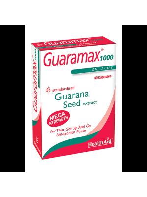 HEALTH AID GUARAMAX GUARANA 1000MG CAPSULES 30'S-BLISTER