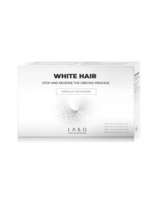 LABO WHITE HAIR TREATMENT WOMAN STOP REVERCE GREYING PROCESS 40VIALSX3.5ML