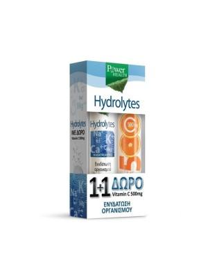POWER HEALTH HYDROLYTES 20EFF TABS & VITAMIN C 500MG 20EFF TABS