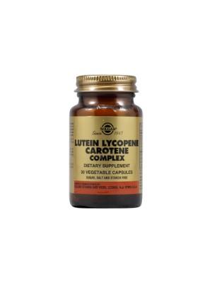 SOLGAR LUTEIN LYCOPENE CAROTENE  COMPLEX 30CAP