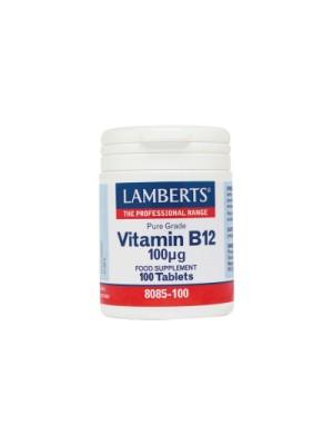 LAMBERTS VITAMIN B-12 100MCG 100TABS