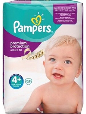 PAMPERS PREMIUM PROTECTION ACTIVE FIT ΠΑΝΕΣ No4+ 9-18KG 21ΤΕΜΑΧΙΑ