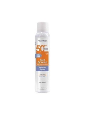 FREZYDERM SUNSCREEN INVISIBLE SPRAY SPF 50+ 200ML
