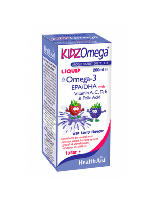 HEALTH AID KIDZ OMEGA LIQUID-WILDBERRY 200ML