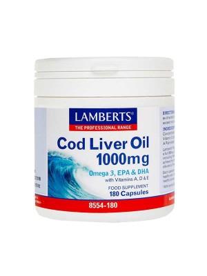 LAMBERTS COD LIVER OIL 1000MG 180CAPS