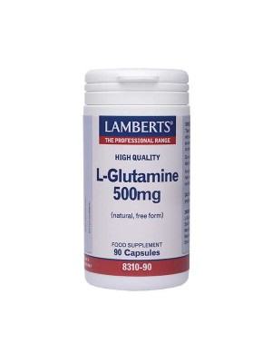 LAMBERTS L-GLUTAMINE 500MG 90CAPS