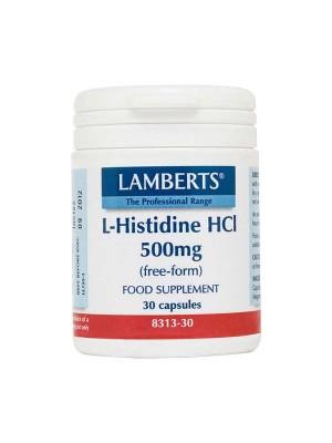 LAMBERTS L HISTIDINE 500MG 30CAP