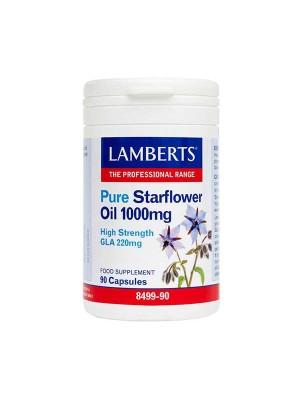 LAMBERTS PURE STARFLOWER OIL 1000MG (HIGH GLA 220MG) 90CAPS (Ω6)