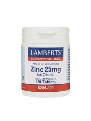 LAMBERTS ZINC 25MG (AS CITRATE) 120TAB
