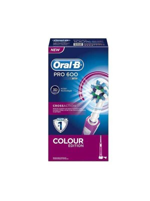 ORAL B PRO 600 CROSS ACTION PINK COLOUR EDITION ΗΛΕΚΤΡΙΚΗ ΟΔΟΝΤΟΒΟΥΡΤΣΑ 1ΤΜΧ