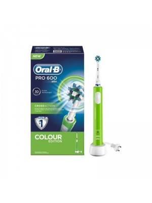 ORAL B PRO 600 CROSS ACTION - COLOUR EDITION GREEN