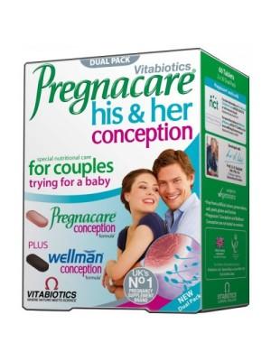 VITABIOTICS PREGNACARE HIS & HER CONCEPTION 60 TABS